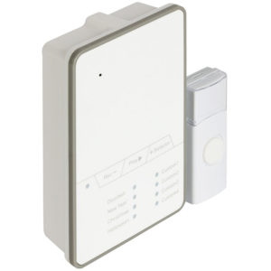 SAS-WDB 212 Wireless Doorbell, Recording melody, Battery Powered 80 dB White/Gre   SECURITY   elabstore.gr