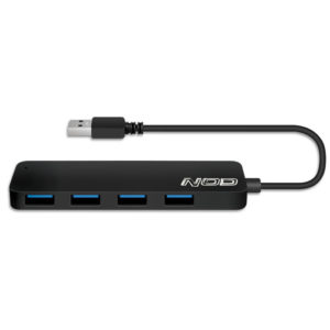 NOD METAL HUB 4.3 USB 3.0 4PORTS ALUMINUM BLACK | ΠΕΡΙΦΕΡΕΙΑΚΑ Η/Υ & LAPTOP | elabstore.gr