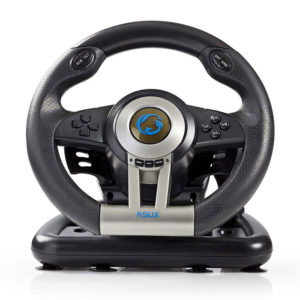 NEDIS GSWL200BK Gaming Steering Wheel, Manual Shifter Option, Foot Pedals, Force | ΠΕΡΙΦΕΡΕΙΑΚΑ Η/Υ & LAPTOP | elabstore.gr