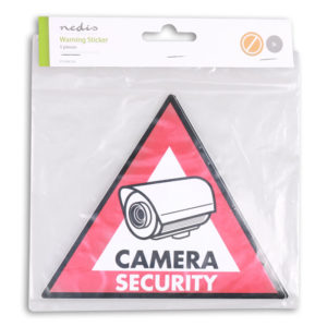 NEDIS STCKWC105 Warning Sticker Camera Security symbol Set of 5 pieces | SECURITY | elabstore.gr