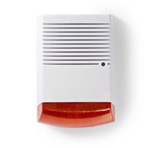 NEDIS DUMSS20WT Dummy Security Siren IP44 | White/Orange | SECURITY | elabstore.gr