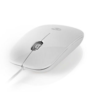 NEDIS MSWD200WT Wired Mouse 1000 DPI 3-Button White | ΠΕΡΙΦΕΡΕΙΑΚΑ Η/Υ & LAPTOP | elabstore.gr