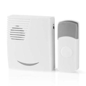 NEDIS DOORB111WT Wireless Doorbell Set Battery Powered 36 Melodies | SECURITY | elabstore.gr