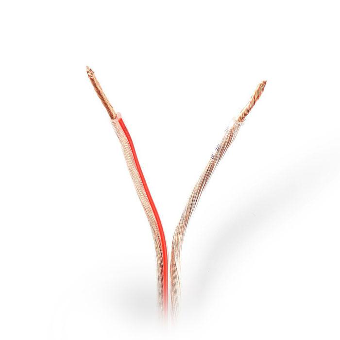 NEDIS CAGW1500TR1000 Speaker Cable 2x 1.50 mm2 100 m Wrap Transparent | ΚΑΛΩΔΙΑ / ADAPTORS | elabstore.gr