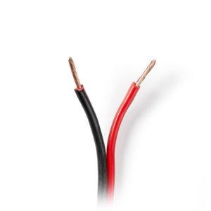 NEDIS CAGW1500BK1000 Speaker Cable 2x 1.50 mm2 100 m Wrap Black/Red | ΚΑΛΩΔΙΑ / ADAPTORS | elabstore.gr