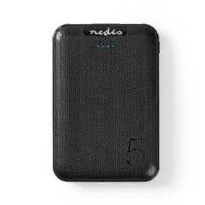 NEDIS UPBK5002BK Powerbank 5000 mAh 2 USB-A Outputs 1.0 A Micro USB Input Black | SMARTPHONES / TABLETS / GPS | elabstore.gr