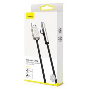 BASEUS καλώδιο USB σε Type-C CAT7C-C01, LED, 4A 40W, 2m, μαύρο | Αξεσουάρ κινητών | elabstore.gr