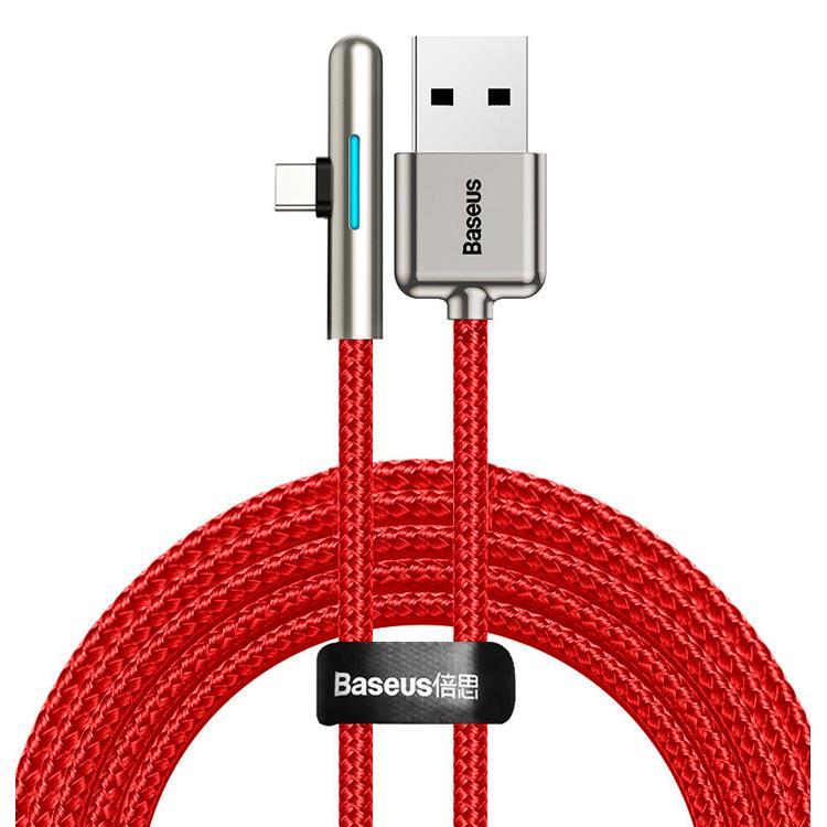 BASEUS καλώδιο USB σε Type-C CAT7C-C09, LED, 4A 40W, 2m, κόκκινο   Αξεσουάρ κινητών   elabstore.gr