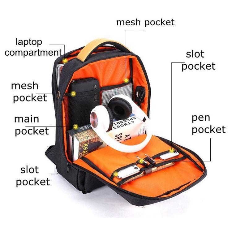 ARCTIC HUNTER τσάντα πλάτης GB00378-BK με θήκη laptop, αδιάβροχη, μαύρη   Οικιακές & Προσωπικές Συσκευές   elabstore.gr