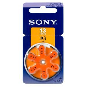 SONY μπαταρίες ακουστικών βαρηκοΐας PR13, mercury free, 1.4V, 6τμχ   Μπαταρίες   elabstore.gr