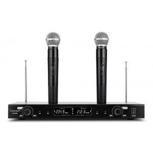 VOICE KRAFT Σετ 2 ασύρματα μικρόφωνα με βάση V-380, jack 6.3mm, μαύρα | Εικόνα & Ήχος | elabstore.gr