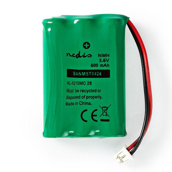 NEDIS BANM5T0424 Nickel-Metal Hydride Battery 3.6 V 600 mAh Wired Connector | ΜΠΑΤΑΡΙΕΣ / ENERGY | elabstore.gr