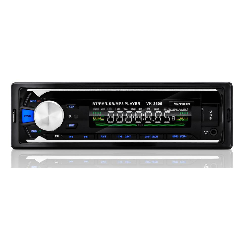VOICE KRAFT car audio VK-8605, MP3-FM ΒΤ/AUX/SD/USB, χειριστήριο | Gadgets | elabstore.gr