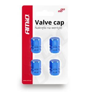 AMIO Καπάκι βαλβίδας τροχού 02239, αλουμινίου, μπλε, 4τμχ | Gadgets | elabstore.gr