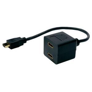 POWERTECH HDMI Splitter 19pin male / 2x Female Gold, copper | Καλώδια | elabstore.gr