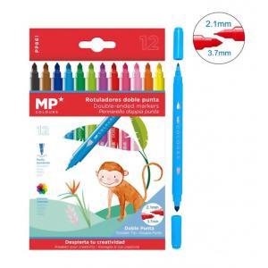 MP σετ χρωματιστών μαρκαδόρων με διπλή μύτη 2.1 & 3.7mm PP861, 12τμχ | Αναλώσιμα - Είδη Γραφείου | elabstore.gr