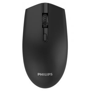 PHILIPS ασύρματο ποντίκι SPK7404, 1600DPI, 4 πλήκτρα, μαύρο | Συνοδευτικά PC | elabstore.gr