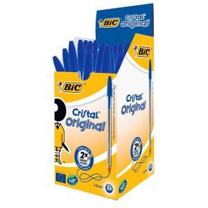 BIC στυλό διαρκείας Cristal με μύτη 1mm, μπλε 50τμχ | Αναλώσιμα - Είδη Γραφείου | elabstore.gr
