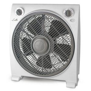 "LIFE Vento 12"" box fan in white gray color   ΜΙΚΡΟΣΥΣΚΕΥΕΣ / ΕΠΟΧΙΑΚΑ / ΛΕΥΚΕΣ ΣΥΣΚΕΥΕΣ   elabstore.gr"