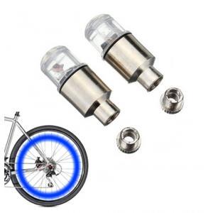 Καπάκι βαλβίδας ποδηλάτου με φως, 2 τμχ, μπλε   Gadgets   elabstore.gr