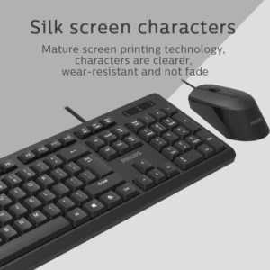 PHILIPS σετ ποντίκι & πληκτρολόγιο C234, ενσύρματο, μαύρο   Συνοδευτικά PC   elabstore.gr