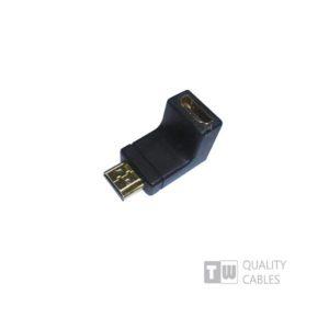 HDMI Male WS-CAHM01f To HDMI Female Γωνία 90Μοιρών | ELABSTORE.GR