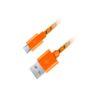 Καλώδιο Micro USB 2.0 1m Fabric braided πορτοκαλί   ELABSTORE.GR