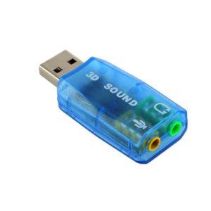Εξωτερική κάρτα ήχου 7.1 USB to Jack 3.5mm F για PC/MAC/Linux | ELABSTORE.GR