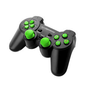 Gamepad EGG102G PC USB WARRIOR BLACK/GREEN | ELABSTORE.GR