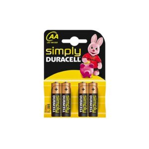 DURACELL SIMPLY ALC LR6  AA 4τεμ Αλκαλική Μπαταρία | ELABSTORE.GR