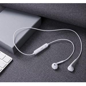 USAMS bluetooth earphones BHULN01, LN series, BT 4.2, λευκό | Αξεσουάρ κινητών | elabstore.gr