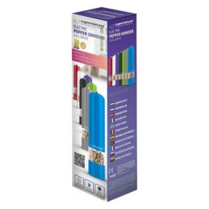 ESPERANZA ηλεκτρικός μύλος πιπεριού/αλατιού EKP001E, φορητός, μπλε   Οικιακές & Προσωπικές Συσκευές   elabstore.gr