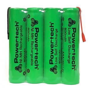 POWERTECH επαναφορτιζόμενη μπαταρία PT-791 800mAh, AAΑ (HR03), 4τμχ | Μπαταρίες | elabstore.gr