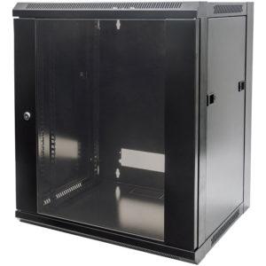"INT 711937 FLATPACK 19"" 15U (770x570x450) WALLMOUNT CABINET BLACK | ΔΙΚΤΥΑΚΑ | elabstore.gr"