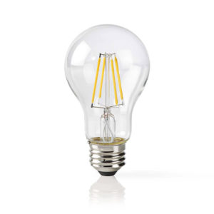 NEDIS WIFILF10WTA60 Wi-Fi Smart LED Bulb Filament E27 White A60 | ΔΙΚΤΥΑΚΑ | elabstore.gr