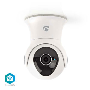 NEDIS WIFICO20CWT WiFi Smart IP Camera Pan/Tilt Full HD 1080p Outdoor Waterproof | ΔΙΚΤΥΑΚΑ | elabstore.gr
