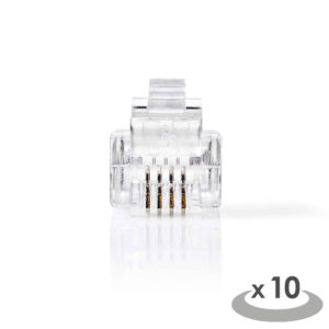 NEDIS TCGP90923TP Telecom Connector RJ11 male 10 pieces | ΚΑΛΩΔΙΑ / ADAPTORS | elabstore.gr