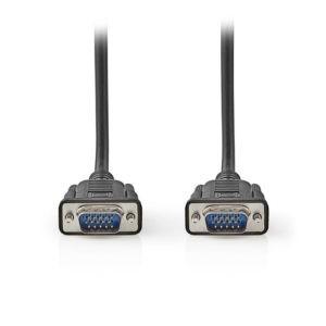 NEDIS CCGT59000BK20 VGA Cable VGA Male VGA Male 2.0 m Black | ΚΑΛΩΔΙΑ / ADAPTORS | elabstore.gr