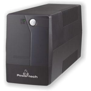 POWERTECH UPS Line Interactive PT-1050, 1050VA/630W | Τροφοδοσία Ρεύματος | elabstore.gr