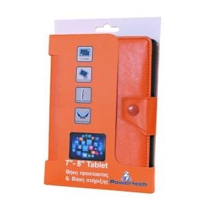 POWERTECH Universal θήκη και βάση για Tablet 7-8 inch, Orange | Tablet - Parts | elabstore.gr