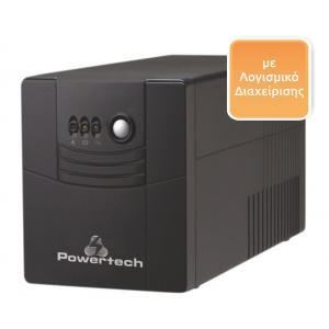 POWERTECH UPS Line Interactive PT-1500, 1500VA, 900W | Τροφοδοσία Ρεύματος | elabstore.gr