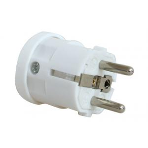 POWERTECH Φις ρεύματος Schuko PT-172, αρσενικό, λευκό | Τροφοδοσία Ρεύματος | elabstore.gr