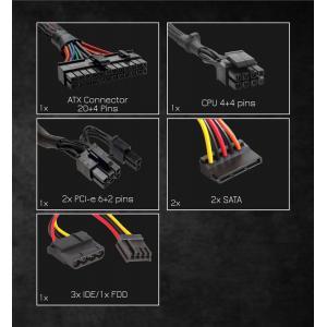 POWERTECH τροφοδοτικό PT-741, 500W, Active PFC, 80 Plus Bronze | PC & Αναβάθμιση | elabstore.gr
