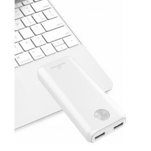 POWERTECH Power Bank PT-802 10000mAh, 2x USB Output, 2.1A, λευκό   Αξεσουάρ κινητών   elabstore.gr