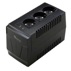 POWERTECH σταθεροποιητής ρεύματος PT-AVR-1500, 1500VA, 3x έξοδοι πρίζας | Τροφοδοσία Ρεύματος | elabstore.gr