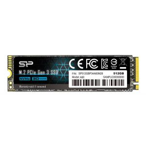 SILICON POWER SSD PCIe Gen3x4 P34A60 M.2 2280, 512GB, 2.200-1.600MB/s | PC & Αναβάθμιση | elabstore.gr