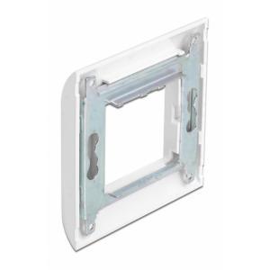DELOCK module βάση πρίζας με frame Easy 45 81300, 80x80mm, λευκό | Τροφοδοσία Ρεύματος | elabstore.gr