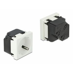 DELOCK module πρίζας ρεύματος Easy 45 81321, 45°, 45x45mm, 10τμχ | Τροφοδοσία Ρεύματος | elabstore.gr