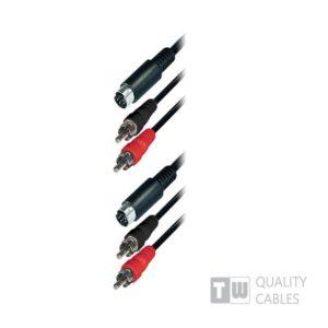 3M 2RCA Plug+S-Vhs To 2RCA Plug To S-Vhs, Nickel | Ήχου & Εικόνας | elabstore.gr