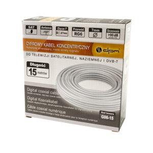 Ομοαξονικό καλώδιο RG6 1mm CCA 15m G06-15 | Ήχου & Εικόνας | elabstore.gr